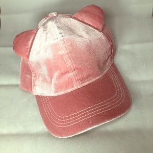 Pink hat with ears